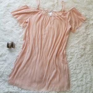 Soul Cake XL Blush Pink Cold-Shoulder Mini Dress